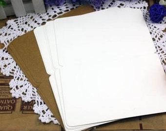 Plain WHITE kraft gift cards in set of 10