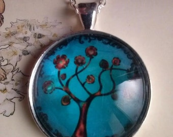 tree of life picture pendant necklace cute