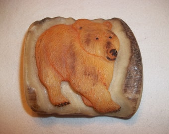 Vintage Grizzly Bear Belt Buckle / Grizzly Bear / Grizzly Bear Buckle/ Belt Buckle