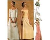 EVENING DRESS PATTERN 2-Piece Top Skirt Dress McCalls 4011 Evening Elegance Size 8 10 12 14 UNCuT 2000s Womens Misses Petite Sewing Patterns