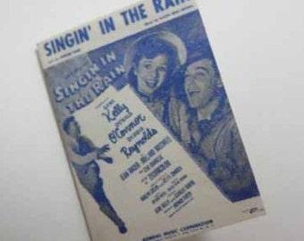 Sheet Music Singin' In the Rain - dollhouse miniature 1:12 scale