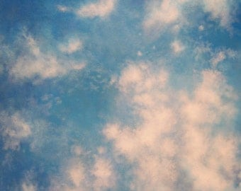 Clouds, sky, painting