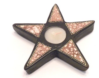 Terracotta Star Candle Holder