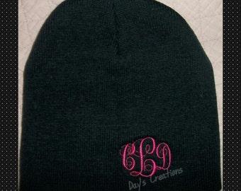 Monogrammed Beanie Cap - Personalized Winter Hat - Embroidered Monogram - Stocking Cap - Monogram Gift - Beanie Cap - Custom Monogram