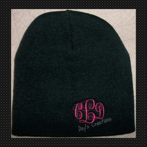 monogram beanie cap - camo or solid stocken cap - beanie stocken cap - custom stocken cap - scull cap - monogrammed winter hat