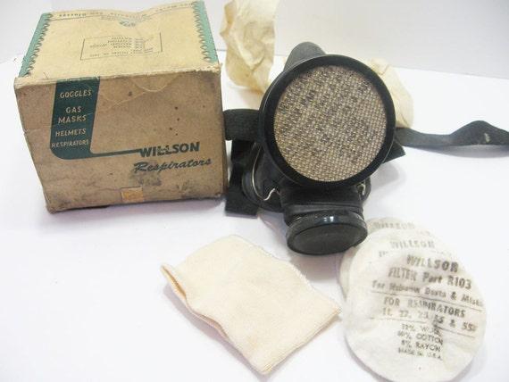 Vintage Dustite Respirator Breathing Mask Dust By