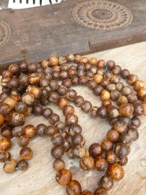 Natural brown aca seeds 1 beads aprox for Natural seeds for jewelry making