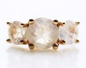 Iemanjá Moonstone Ring in 14k Gold