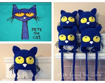 Pete the Cat Inspired Hat