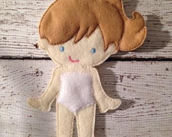 Felt Doll, Doll toy, Un paper Doll