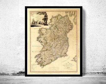 Old Map of Ireland 1797 Beautiful map of Ireland