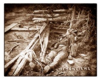 Dead Confederate Soldier 1864