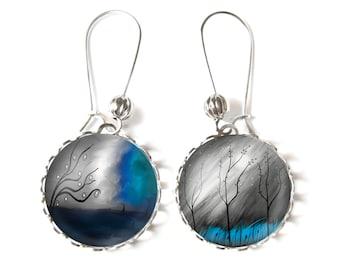 Mystical trees earrings