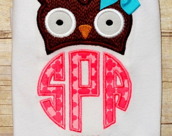 girls owl shirt monogrammed owl shirt toddler girl fall owl outfit