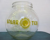 Here comes the sun vintage Solar Tea jar or bowl