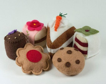 Pretend Food for Toddlers, Felt Food, play kitchen, Play Food for Kids, Play Food Sets, Play Toys, Handmade, Washable Play Food