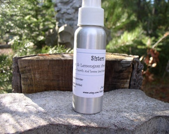 Sisters~Aromatherapy Room Spray, Bath and Body Spray, essential oils of lavender and lemongrass, air freshener, calming and uplifting