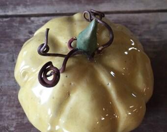 Pumpkin handmade pottery