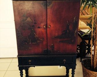 Antique Oriental Cabinet by Scholle's - Chicago