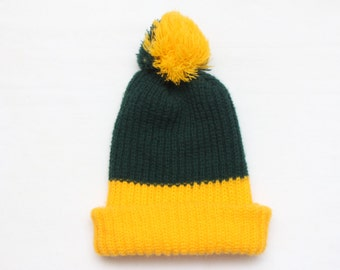 "Rare 80's Vintage ""GREEN BAY"" Color Block Beanie (Men's Exclusive)"