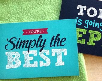Motivational Typography Postcards