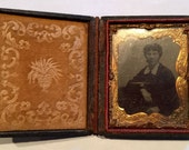 Victorian Daguerreotype Travel Photo Frame