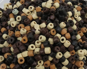 Wood Beads, 1,200 Mixed Color Wooden Beads, 5mm Tube Beads, Item 385wb