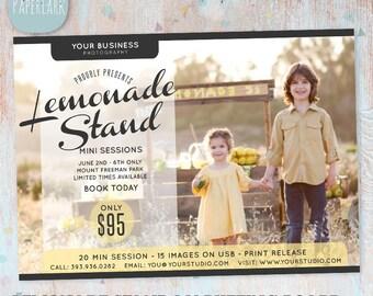 Lemonade Photography Marketing Board - Mini Sessions - IA003 - INSTANT Download