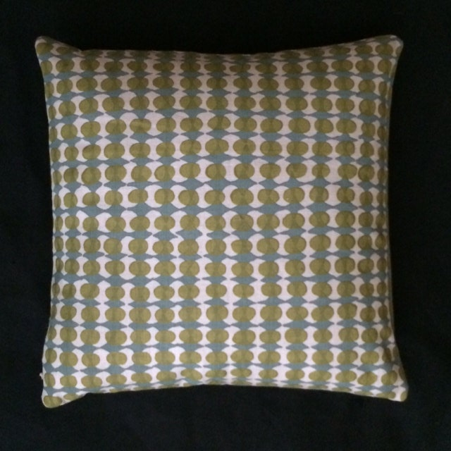 Mid Century Modern style printed linen Accent Pillow