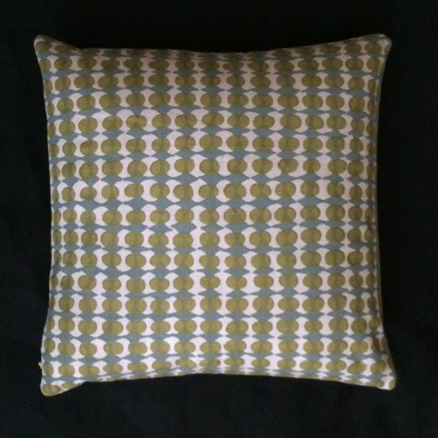 Maia Modern Pillows : Mid Century Modern style printed linen Accent Pillow