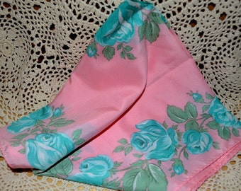 Vintage Nasharr Floral Scarf Made In Japan
