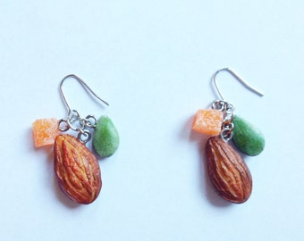 Nuts earrings:) Food jewellery.