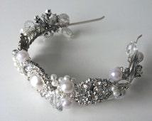 SALE:  Vintage Bridal Brooch Headband | Wedding Headband | Bridal Headband | Vintage Weddings | Bridal | Weddings