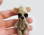 "OOAK Mini Jointed Bear ""Jay"" ~ Artist Handmade Teddy By Michele Roy"