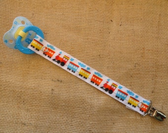 Choo Choo Train Pacifier Clip - Binky Clip