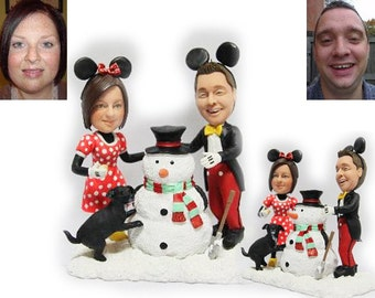 Personalised wedding cake topper - Disney Micky themed topper  (Free shipping)