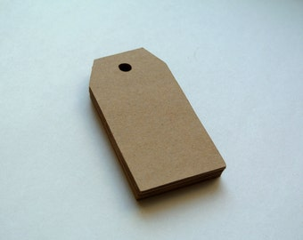 Set of 30 blank kraft tags