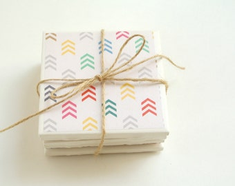 Set of 5 Multi-Colored Arrow Coasters