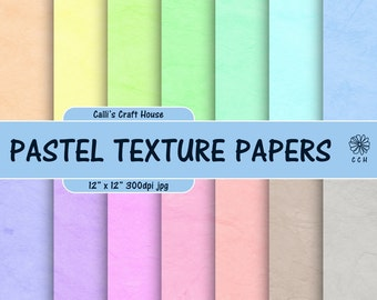 Pastel Soft Leather Texture Digital Papers - 14 soft pastel backgrounds - textured background - Commercial Use - Instant Download