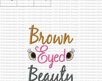 Brown Eyed Beauty Embroidery Design