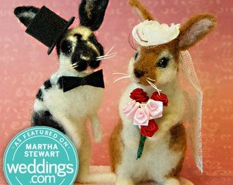 Bunny / Rabbit Custom Wedding Cake Topper