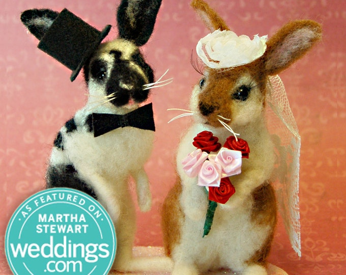 Featured listing image: Bunny / Rabbit Custom Wedding Cake Topper