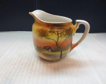 Noritake Hand Painted,Tree,Water Scene,Creamer