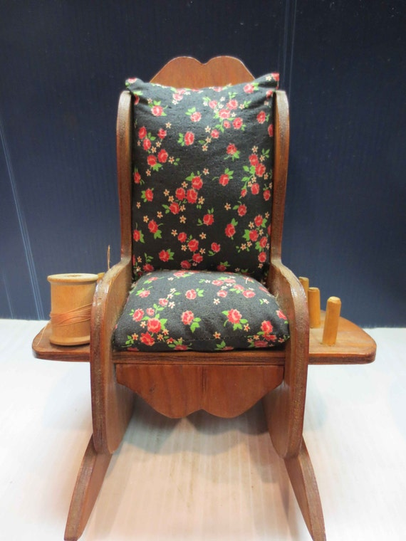 Items Similar To Rocking Chair Pin Cushion Sewing Caddy One Available On Etsy