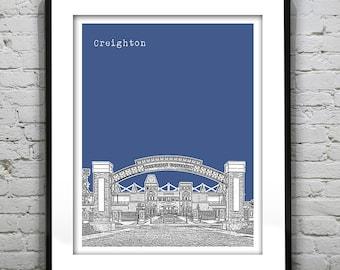 Omaha Nebraska Skyline Poster Art Print Version 2