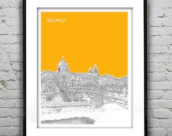 Galway Skyline Poster Art Galway Cathedral Connacht Ireland Version 2