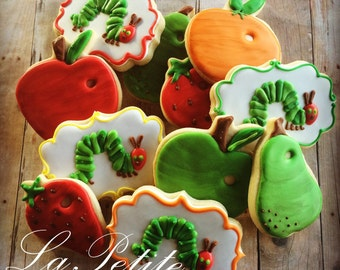 Very Hungry Caterpillar Sugar Cookies (1 dozen)