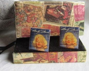 Vintage MARILYN MONROE Stamp Cufflinks