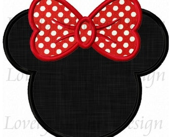 Minnie Mouse Head Applique Machine Embroidery Design NO:0291