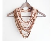 Leopard powder pink necklace neck ornament loop scarf infinity scarf round scarf ocelot cat pastel pink